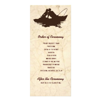 Brown Fishing Lovers Wedding Program