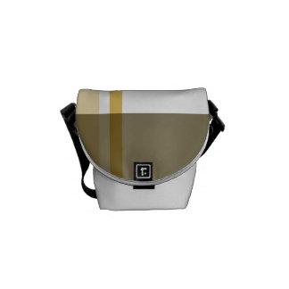Brown Flannel Messenger Bag