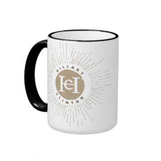 Brown Flare Hillary HC Monogram Ringer Coffee Mug