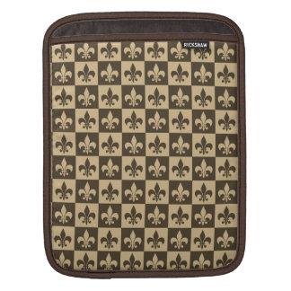 Brown Fleur de lis Sleeves For iPads