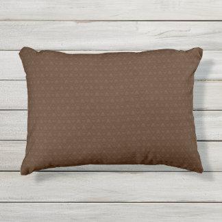 Brown Fleur-de-lis Pattern Outdoor Accent Pillow