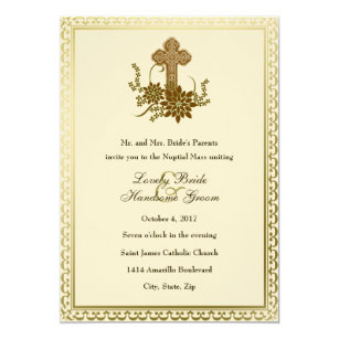 Catholic Vintage Wedding Invitations Zazzle