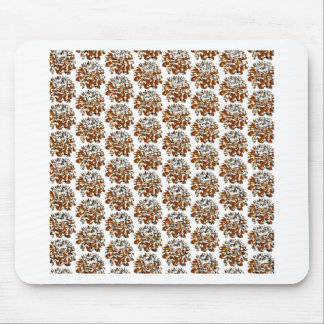 Brown  Floral Dahlia Flower Pattern Mouse Pad