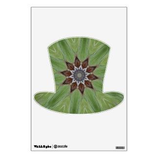 Brown Floral Green Kaleidoscope Wall Sticker