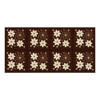 Brown floral pattern card