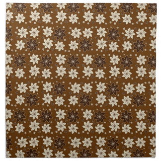 Brown floral pattern cloth napkins