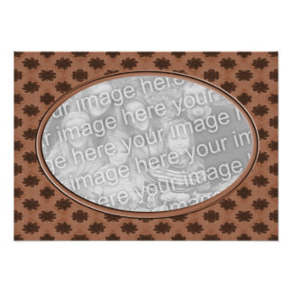 brown floral  photo frame poster