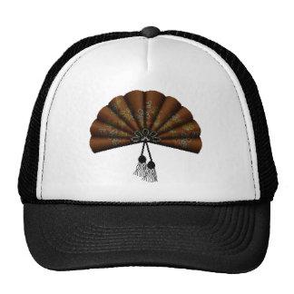 Brown Floral Pixel Art Fan Trucker Hat