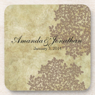 Brown Floral Vintage Coaster