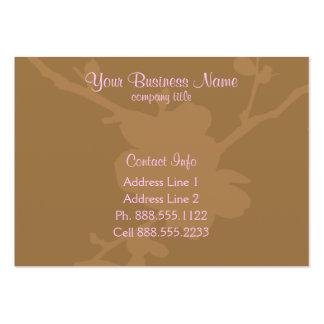 Brown florece tarjetas de visita de la silueta