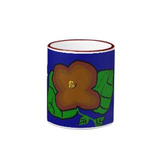 Brown Flower Mug