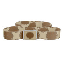 Brown Flower Ribbon Belt