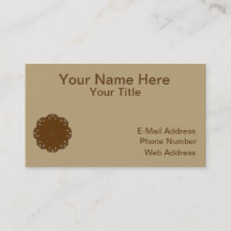 Brown Flower Ribbon Business Card