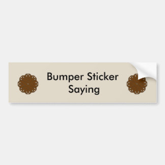 Brown Flower Ribbon by Kenneth Yoncich Bumper Sticker
