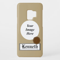 Brown Flower Ribbon by Kenneth Yoncich Case-Mate Samsung Galaxy S9 Case