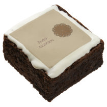 Brown Flower Ribbon by Kenneth Yoncich Chocolate Brownie