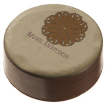Brown Flower Ribbon by Kenneth Yoncich Chocolate Dipped Oreo