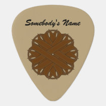 Brown Flower Ribbon by Kenneth Yoncich Guitar Pick