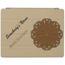 Brown Flower Ribbon by Kenneth Yoncich iPad Smart Cover