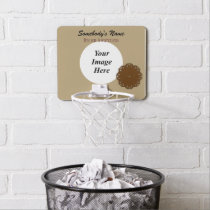 Brown Flower Ribbon by Kenneth Yoncich Mini Basketball Backboard