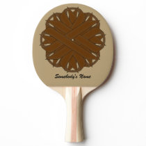 Brown Flower Ribbon by Kenneth Yoncich Ping-Pong Paddle