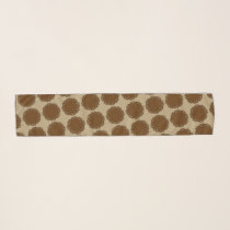 Brown Flower Ribbon by Kenneth Yoncich Scarf