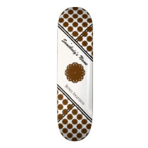 Brown Flower Ribbon by Kenneth Yoncich Skateboard Deck