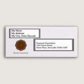 Brown Flower Ribbon Envelope
