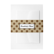 Brown Flower Ribbon (Pers) Invitation Belly Band