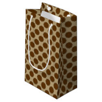 Brown Flower Ribbon Small Gift Bag