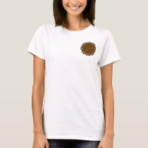 Brown Flower Ribbon T-Shirt