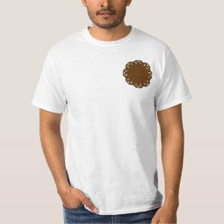 Brown Flower Ribbon T Shirt