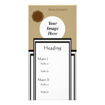 Brown Flower Ribbon Template