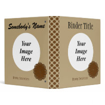 Brown Flower Ribbon Template 3 Ring Binder