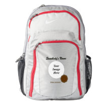 Brown Flower Ribbon Template Backpack