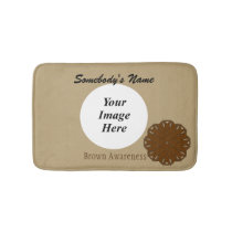 Brown Flower Ribbon Template Bathroom Mat