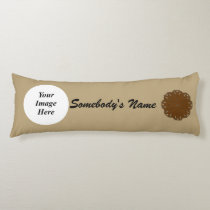 Brown Flower Ribbon Template Body Pillow