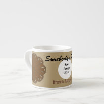 Brown Flower Ribbon Template by Kenneth Yoncich Espresso Cup