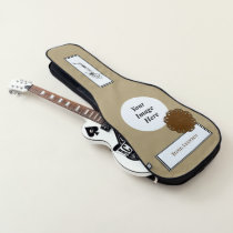 Brown Flower Ribbon Template by Kenneth Yoncich Guitar Case