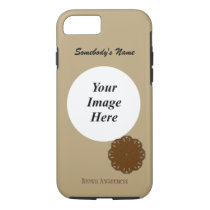 Brown Flower Ribbon Template by Kenneth Yoncich iPhone 8/7 Case