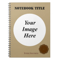 Brown Flower Ribbon Template by Kenneth Yoncich Notebook