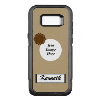 Brown Flower Ribbon Template by Kenneth Yoncich OtterBox Commuter Samsung Galaxy S8  Case