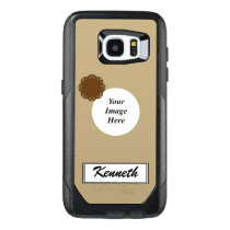Brown Flower Ribbon Template by Kenneth Yoncich OtterBox Samsung Galaxy S7 Edge Case