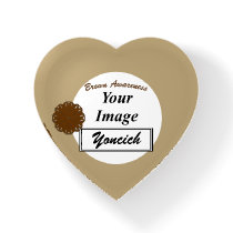 Brown Flower Ribbon Template by Kenneth Yoncich Paperweight
