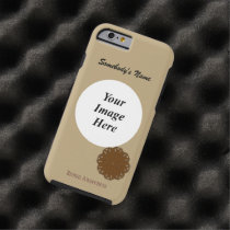 Brown Flower Ribbon Template by Kenneth Yoncich Tough iPhone 6 Case