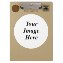 Brown Flower Ribbon Template Clipboard