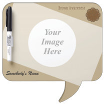 Brown Flower Ribbon Template Dry Erase Board