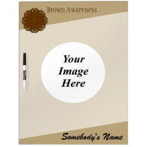 Brown Flower Ribbon Template Dry-Erase Board