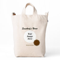 Brown Flower Ribbon Template Duck Bag