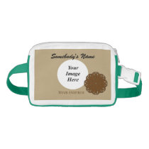 Brown Flower Ribbon Template Fanny Pack